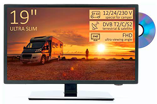 "TV HD 19"" para Autocaravana - DVD/USB/Ci+/Hdmi - 12/24/230V"